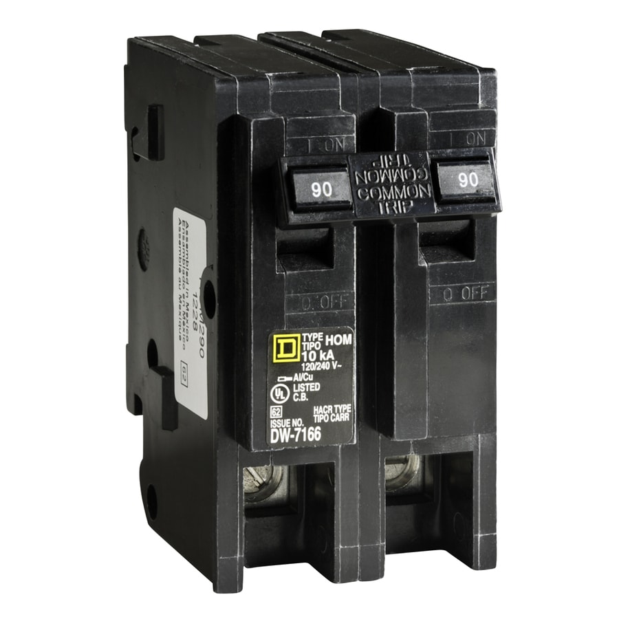 shop square d homeline 90 amp 2 pole main circuit breaker. Black Bedroom Furniture Sets. Home Design Ideas