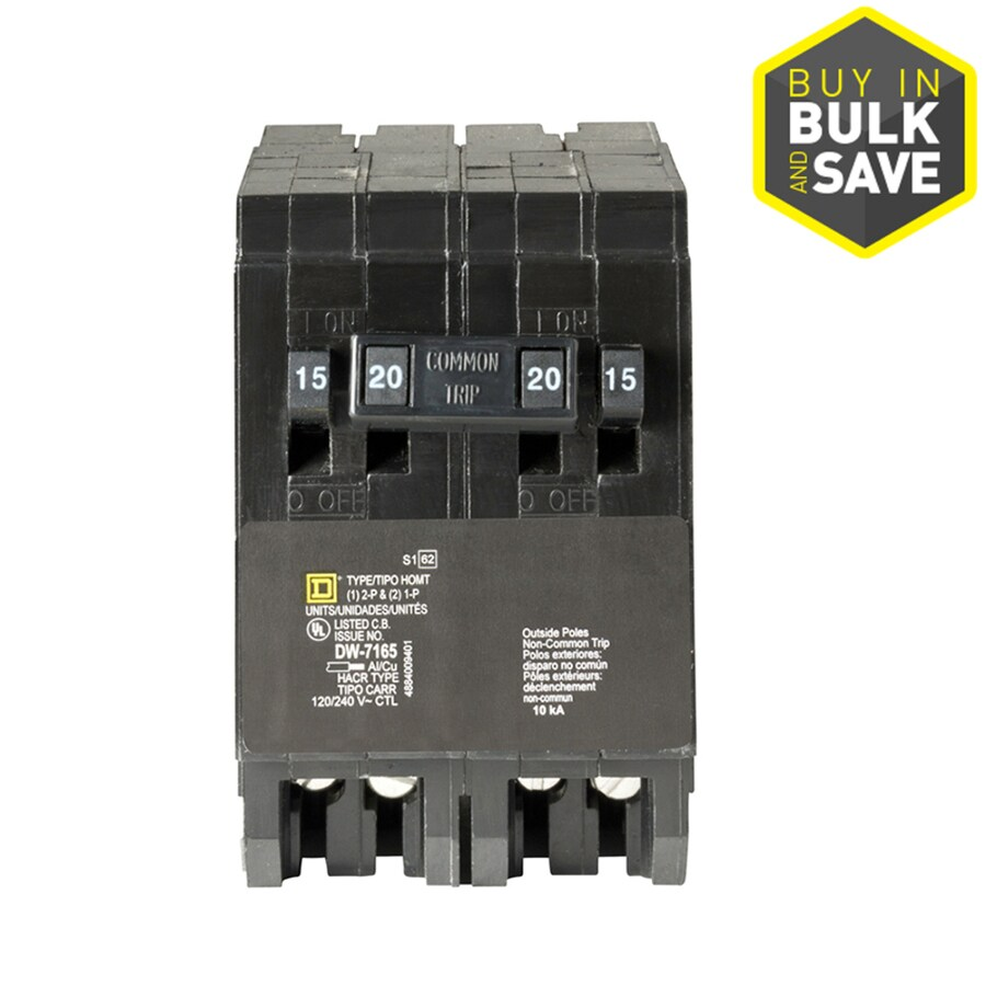 Shop Square D Homeline 20-Amp 4-Pole Quad Circuit Breaker at Lowes.com