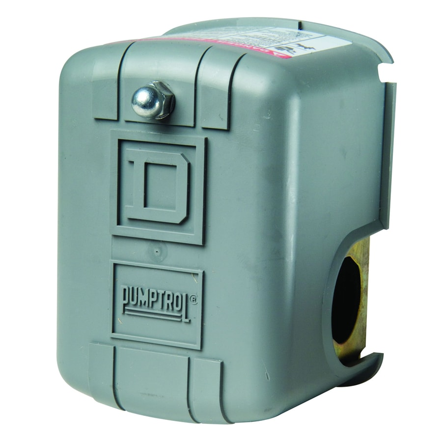 Square D 30/50-PSI Plastic Cover On Metal Base Pressure Switch