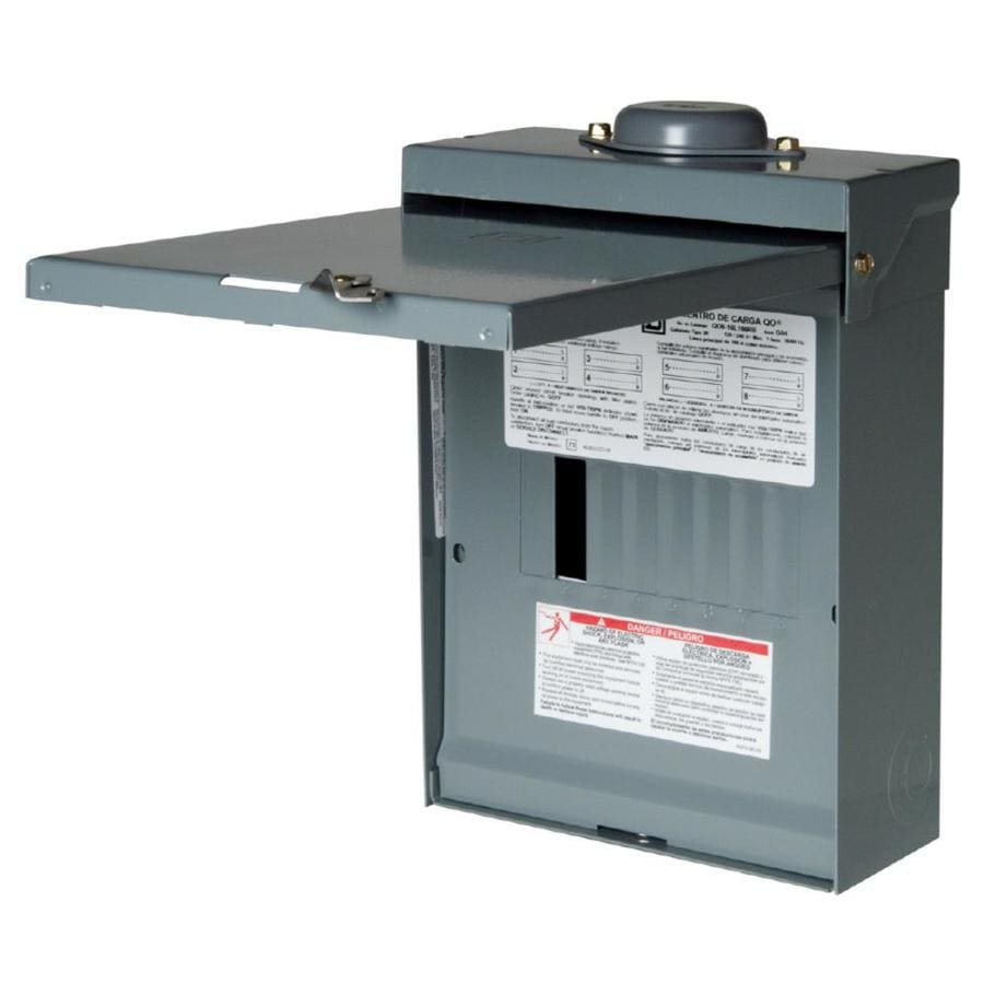square d 16circuit 8space 100amp main lug load center