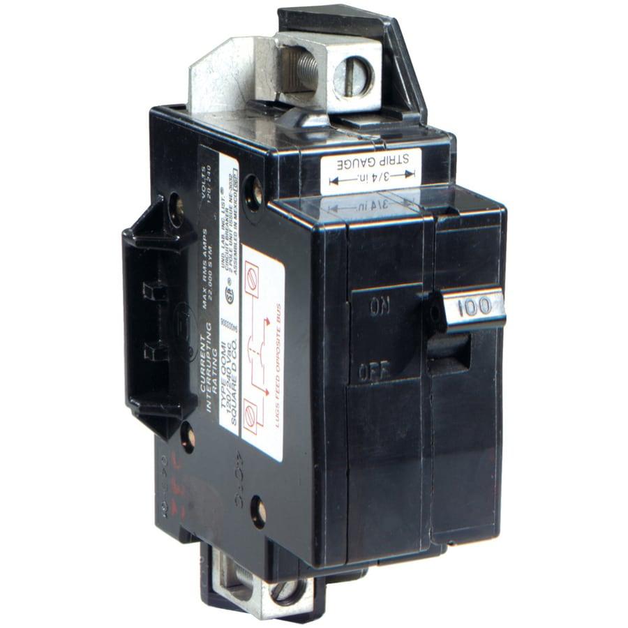 Square D QO 100-Amp 1-Pole Circuit Breaker