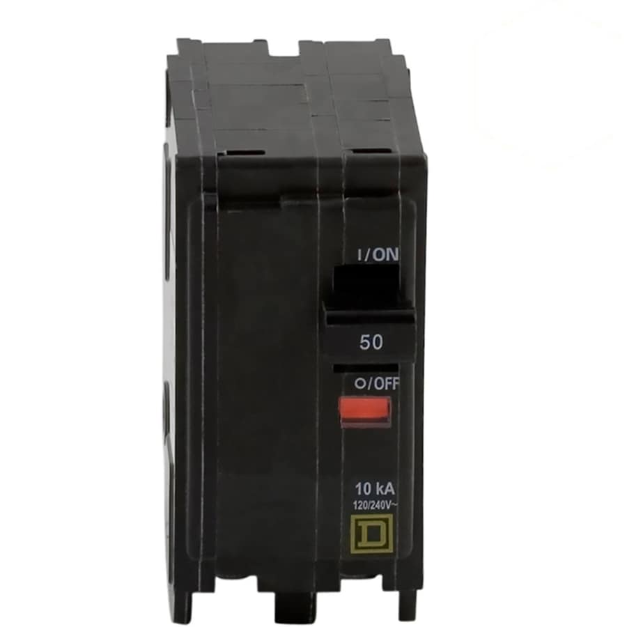 Square D Qo 50 Amp 2 Pole Standard Trip Circuit Breaker At Breakers