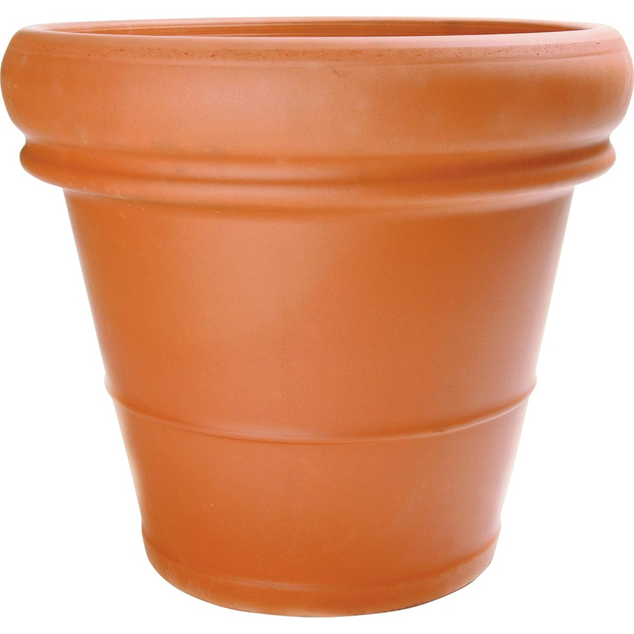 Pennington 24.0150-in x 20.6690-in Rust Terracotta Traditional Planter