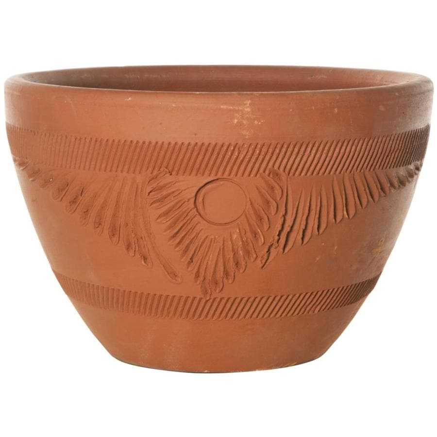 Shop 12 519 In X 7 519 In Terra Cotta Clay Rustic Planter