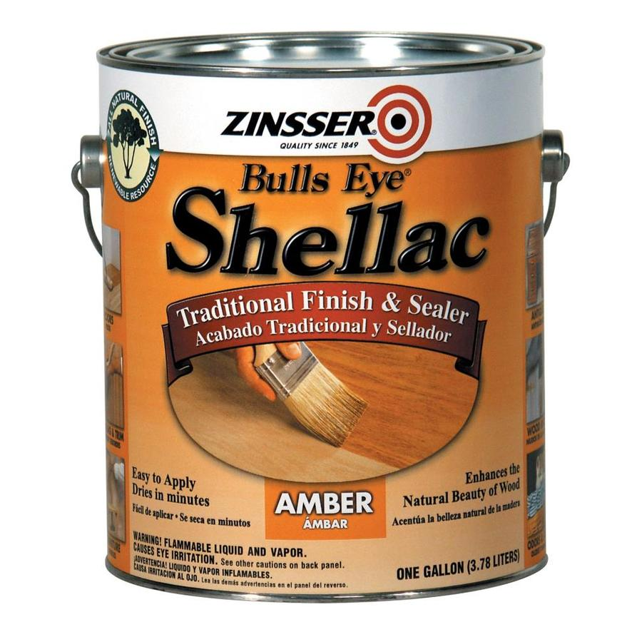 Zinsser Bulls Eye 128-fl oz Amber Water-Based Shellac