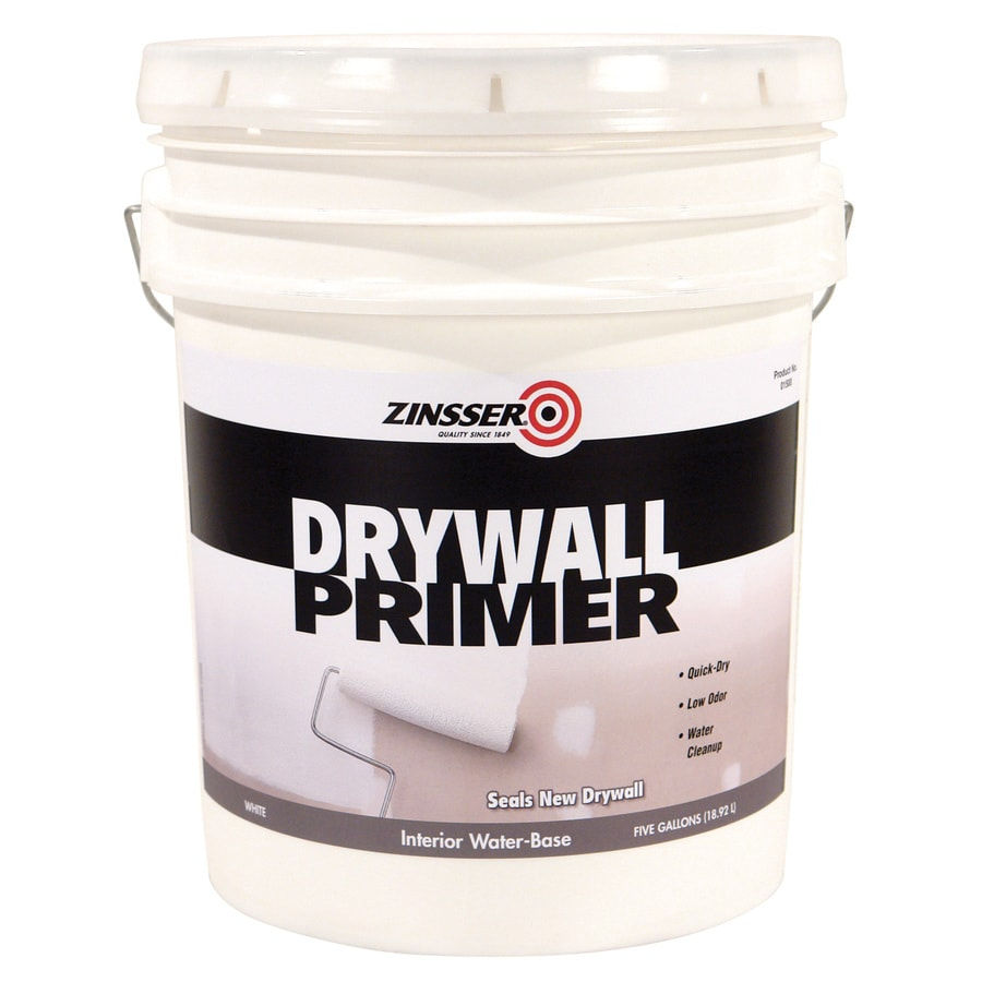 Shop zinsser drywall interior latex primer actual net contents 640 fl oz at for Best interior paint and primer in one