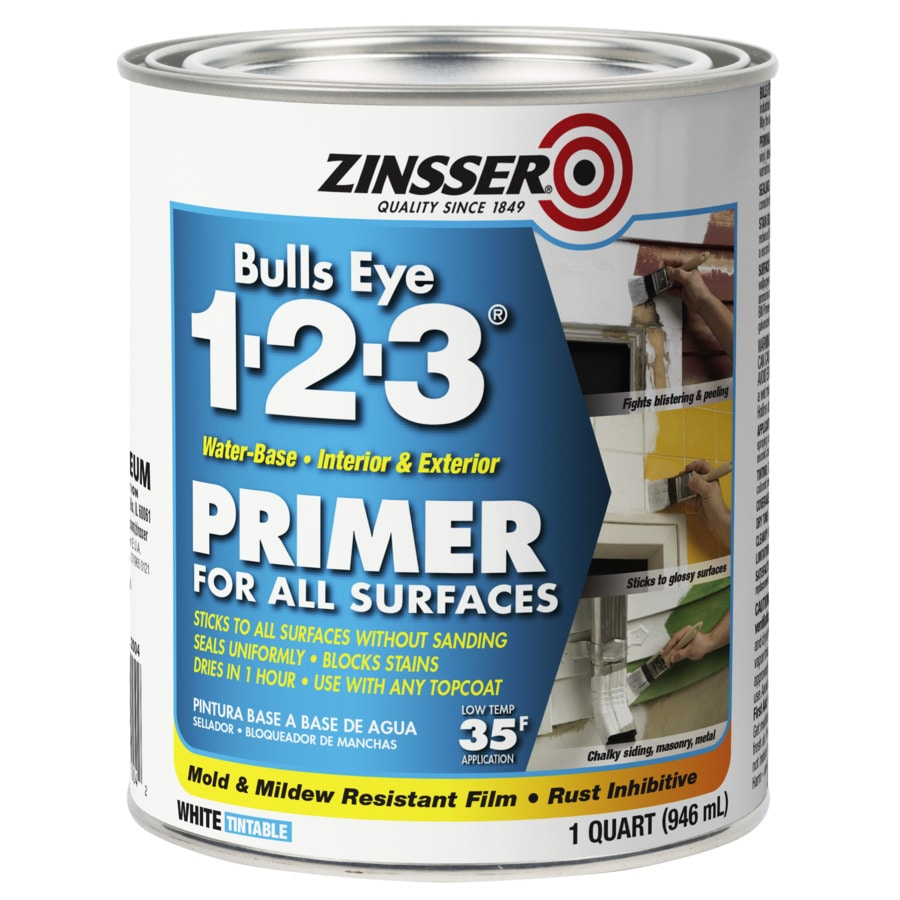 Zinsser Bulls Eye 1-2-3 Interior/Exterior Latex Primer (Actual Net Contents: 32-fl oz)