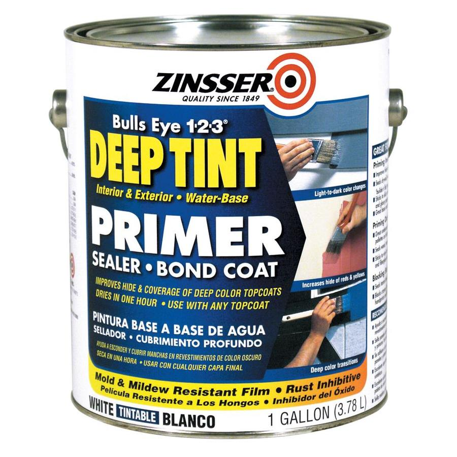 Shop Zinsser Bulls Eye 1 2 3 Deep Tint Interior Exterior Latex Primer Actual Net Contents 122