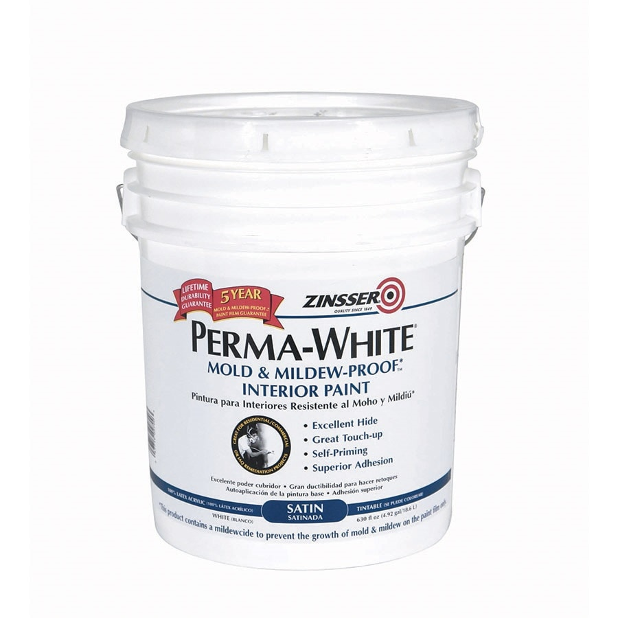 Zinsser White Satin Acrylic Interior Paint and Primer in One (Actual Net Contents: 630-fl oz)