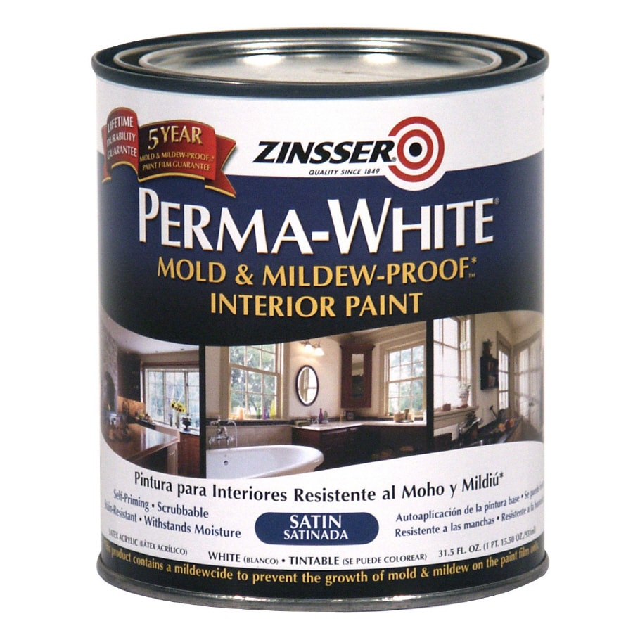 Zinsser Satin White Latex Paint Actual Net Contents 31 5