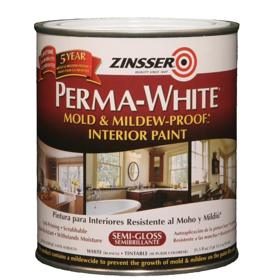 Zinsser White Semi-gloss Acrylic Interior Paint and Primer in One (Actual Net Contents: 31.5-fl oz)