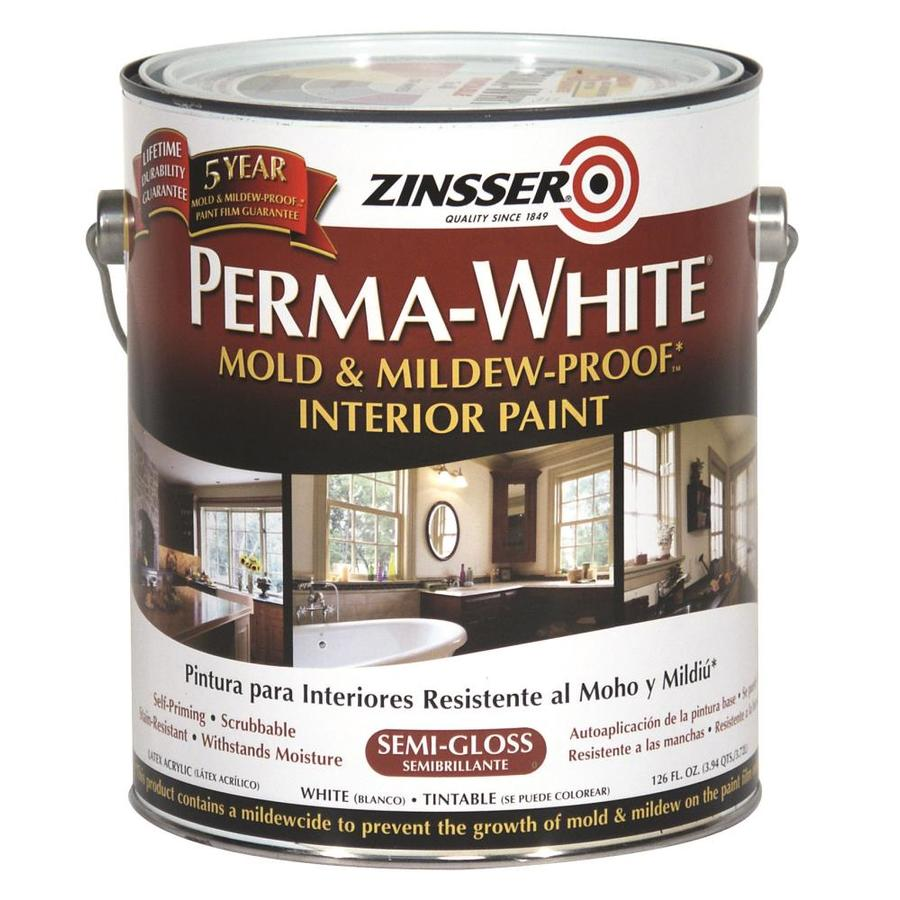 shop zinsser white semi gloss latex interior paint and primer in one actual net contents 126. Black Bedroom Furniture Sets. Home Design Ideas