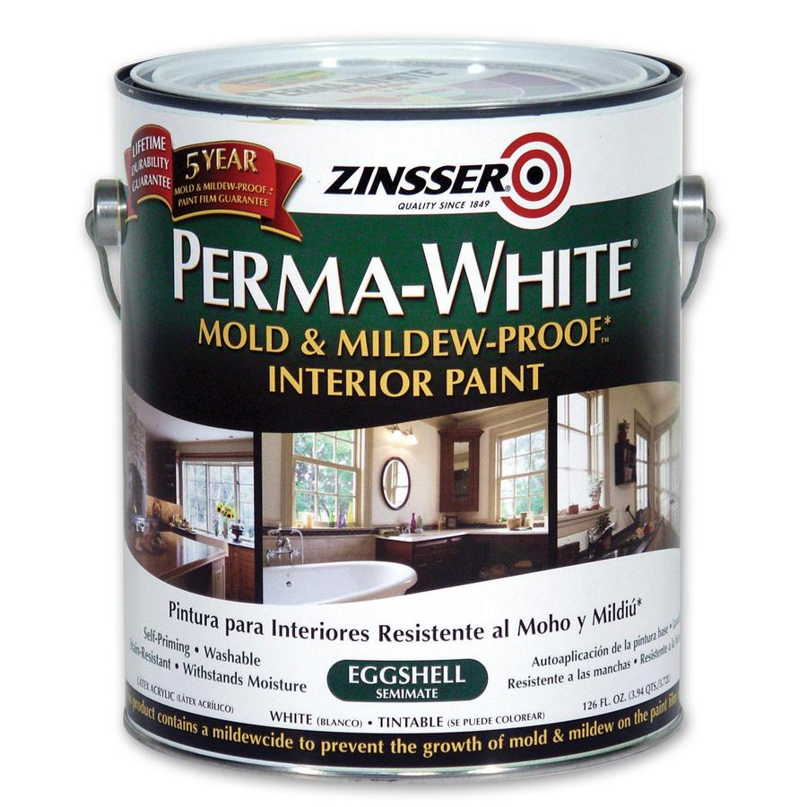 Zinsser Perma White 126-fl oz Interior Eggshell Smooth Texture White Water-Base Paint and Primer in One