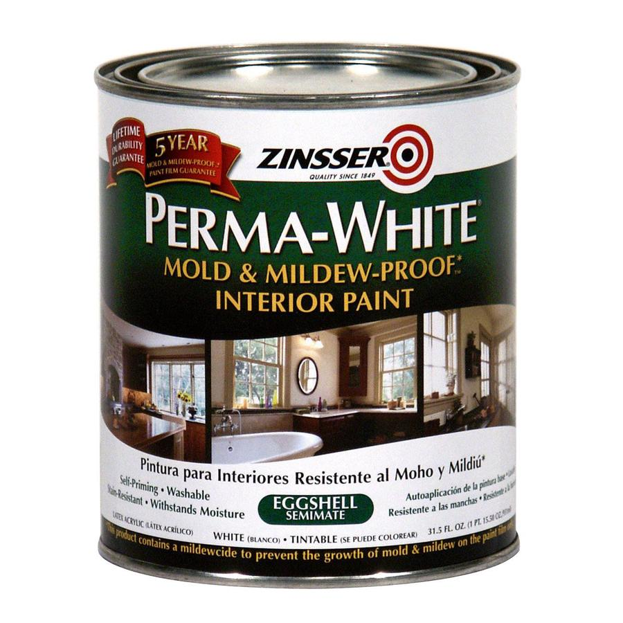 Rust-Oleum Perma White 31.5-fl oz Interior Eggshell Smooth Texture White Water-Base Paint and Primer in One