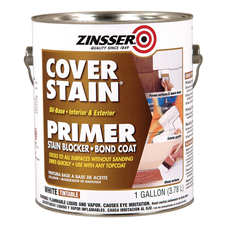 Zinsser Cover Stain Interior Exterior High Hiding Oil Based Wall And Ceiling Primer