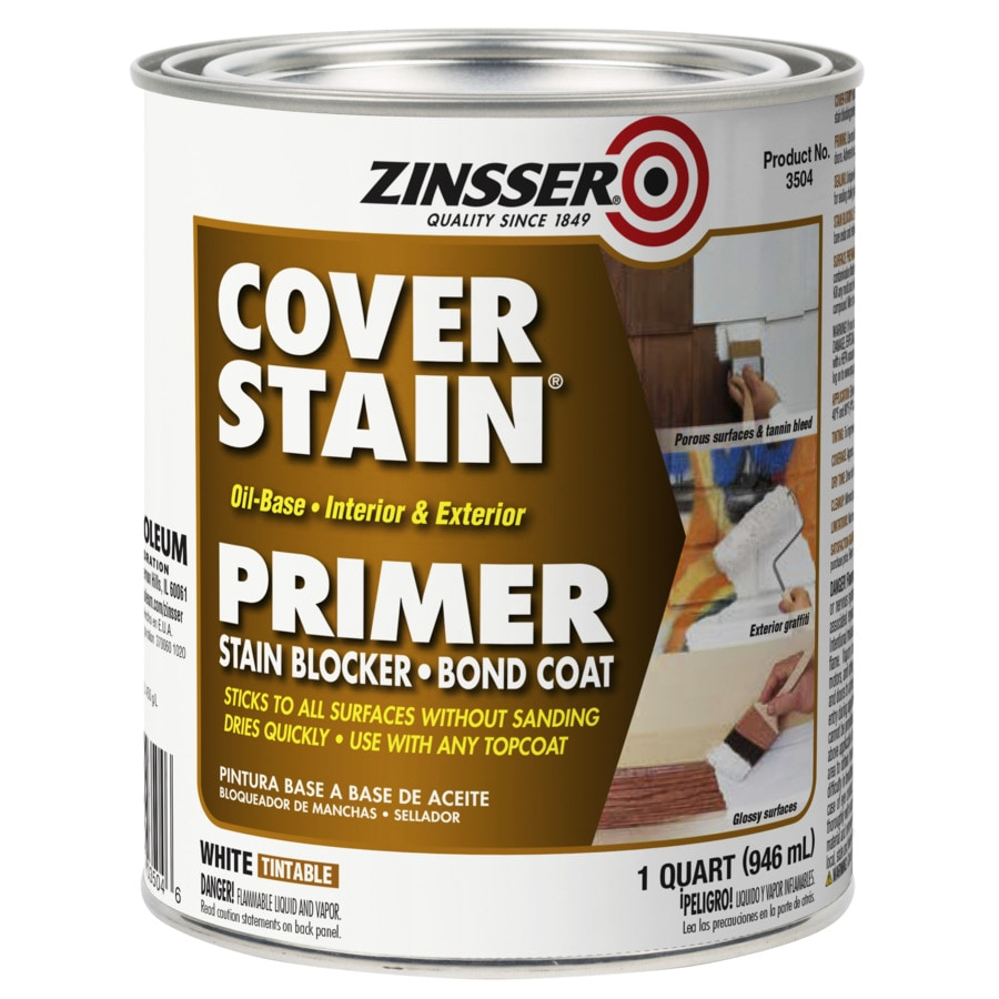 Zinsser Cover Stain Interior Latex Primer (Actual Net Contents: 32-fl oz)