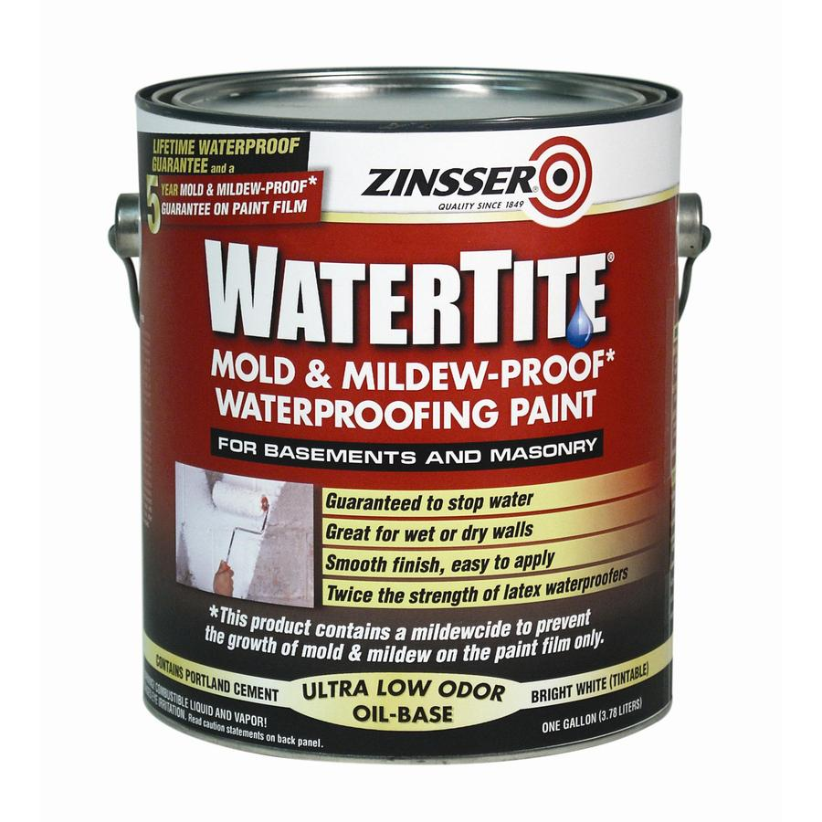 WATERTITE 1-Gallon Interior/Exterior Flat White Oil-Base Paint and Primer in One