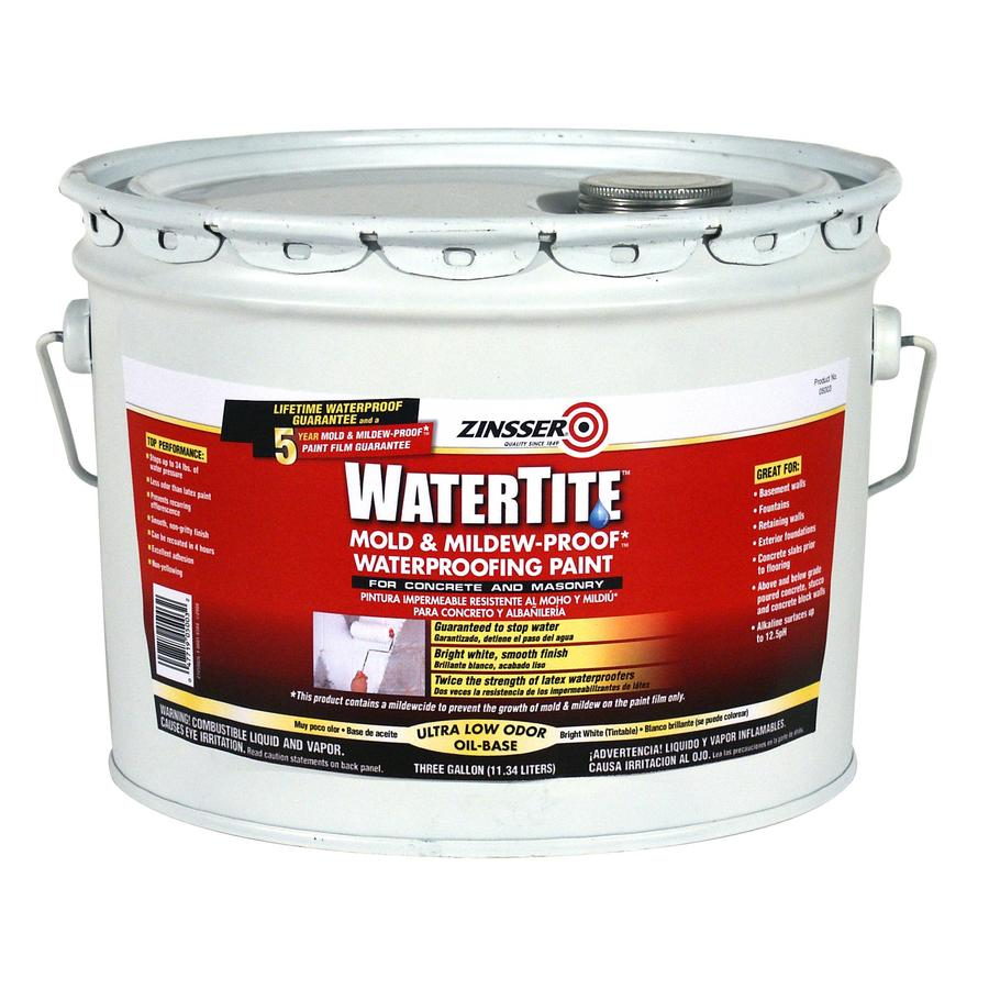 Shop Watertite 3 Gallon Interior Exterior Flat White Oil Base Paint And Primer In One At