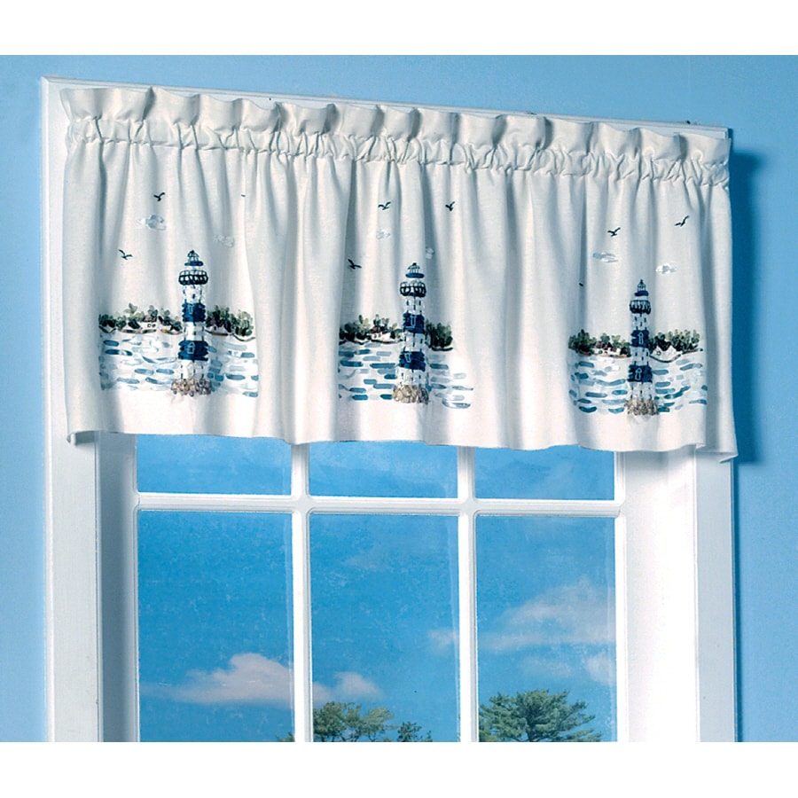 Style Selections 18-in L Multicolor Benson Ascot Valance