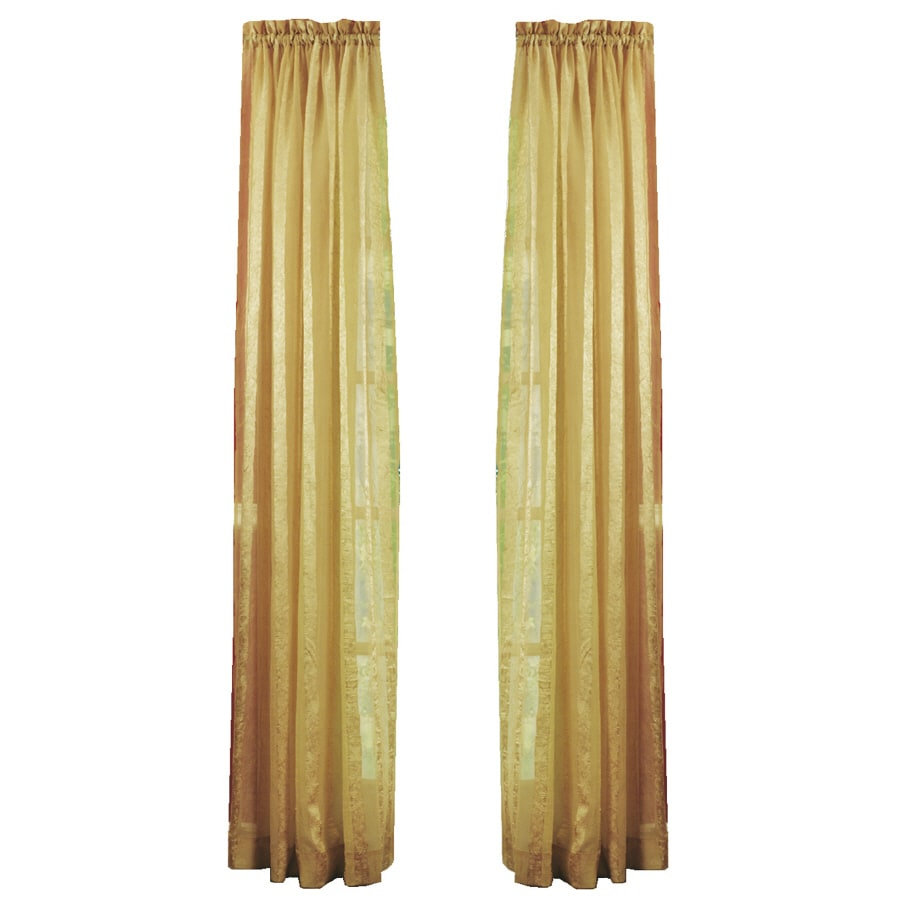 Shop Style Selections Crystal 84 In Gold Polyester Rod