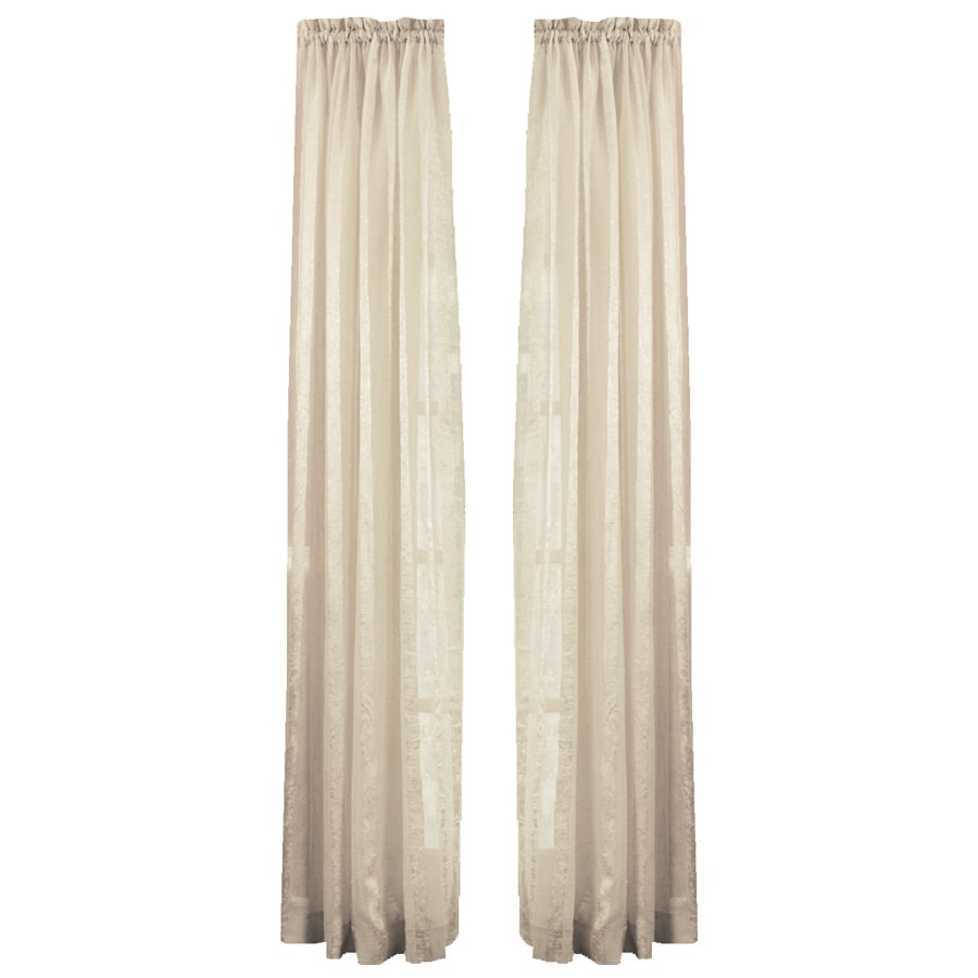 Style Selections Crystal 84-in White Polyester Rod Pocket Light Filtering Sheer Single Curtain Panel
