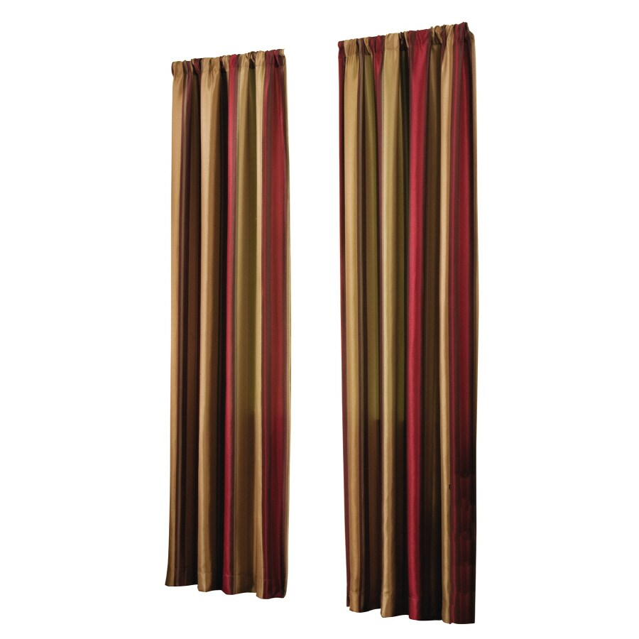 allen + roth Alison 84-in Red Polyester Rod Pocket Light Filtering Single Curtain Panel