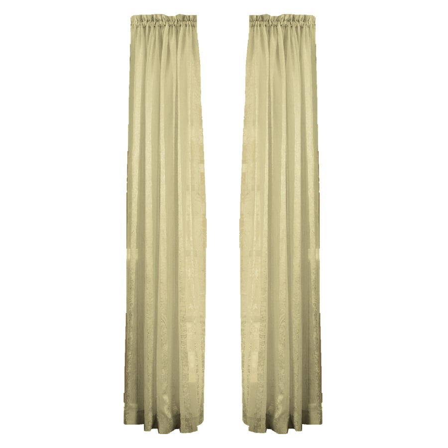 Style Selections Crystal 84-in Taupe Polyester Rod Pocket Light Filtering Sheer