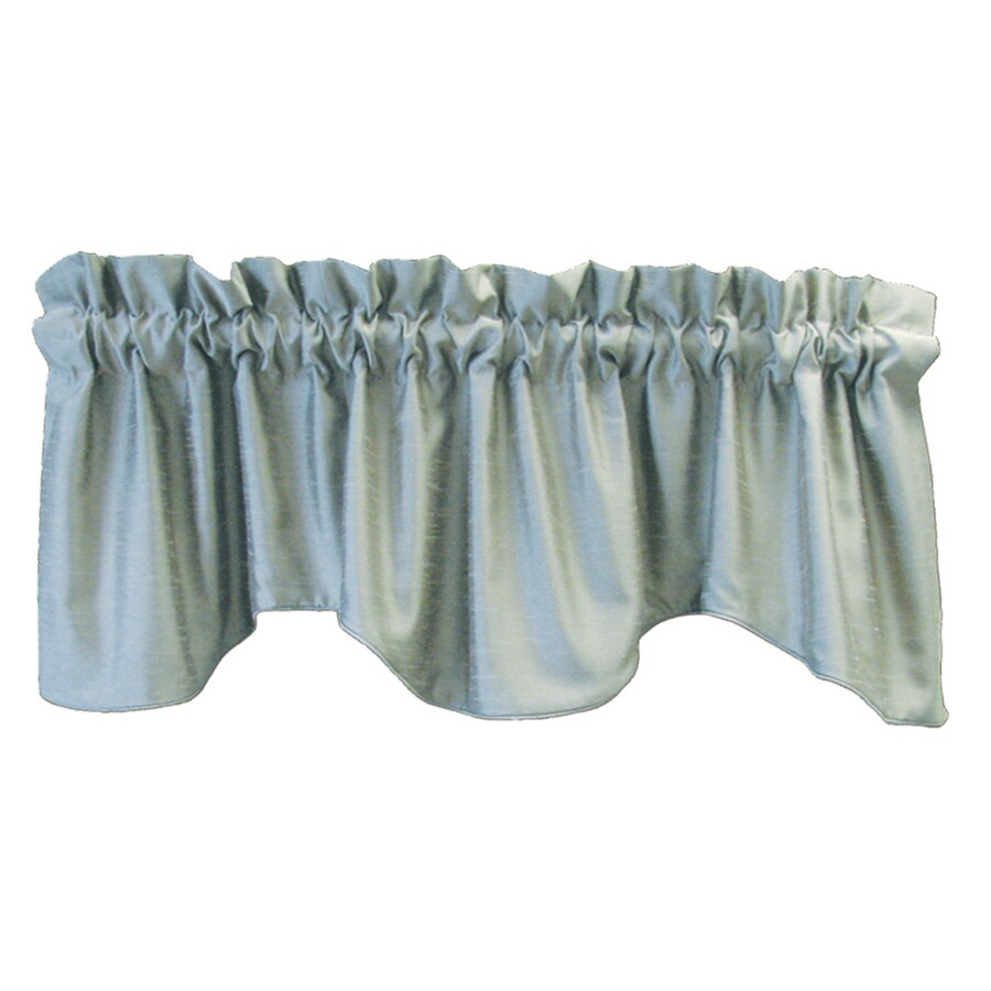 allen + roth 18-in L Blue Florence Tapered Valance