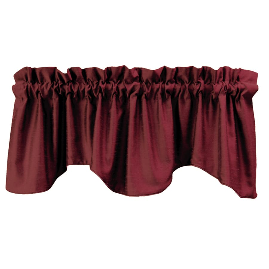 allen + roth 18-in L Red Florence Tapered Valance