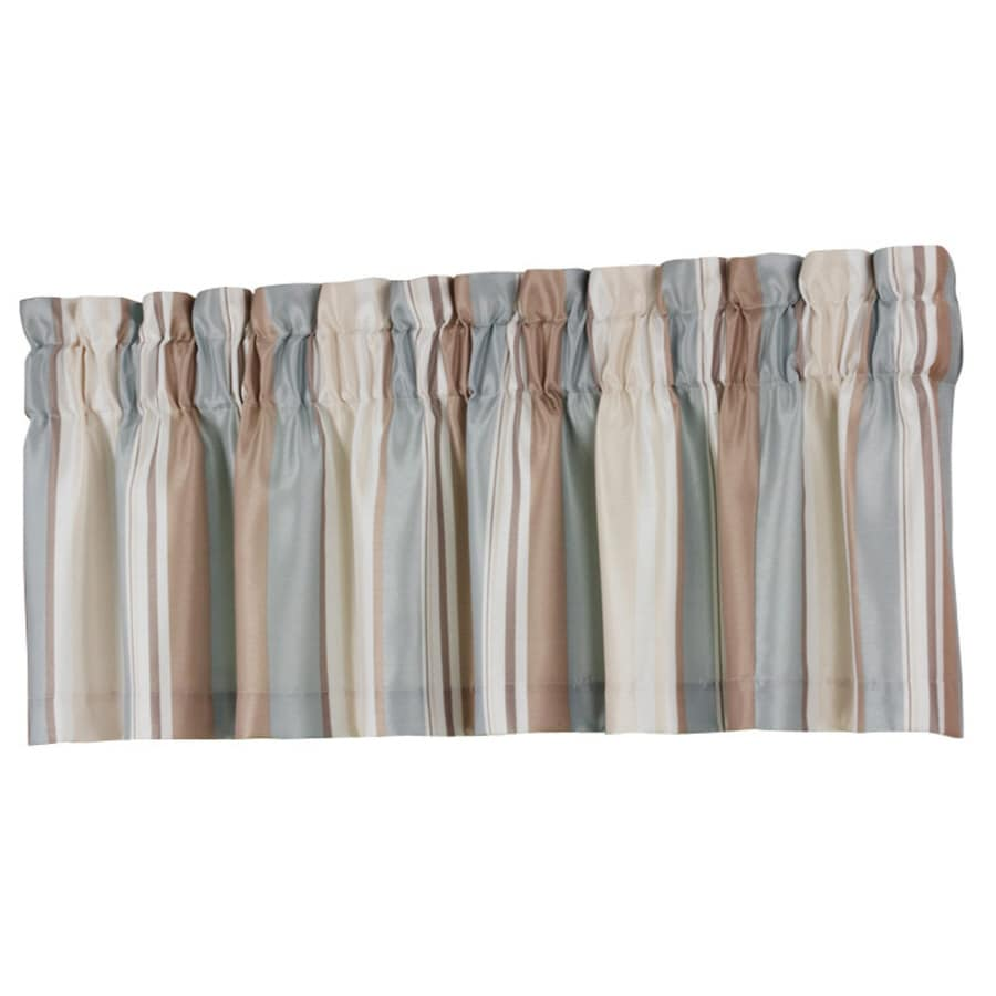 allen + roth 18-in L Blue Alison Tailored Valance