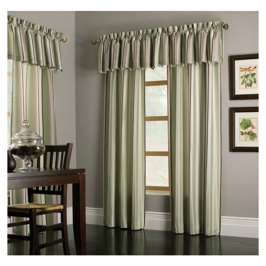 allen + roth Alison 18-in Green Polyester Rod Pocket Valance