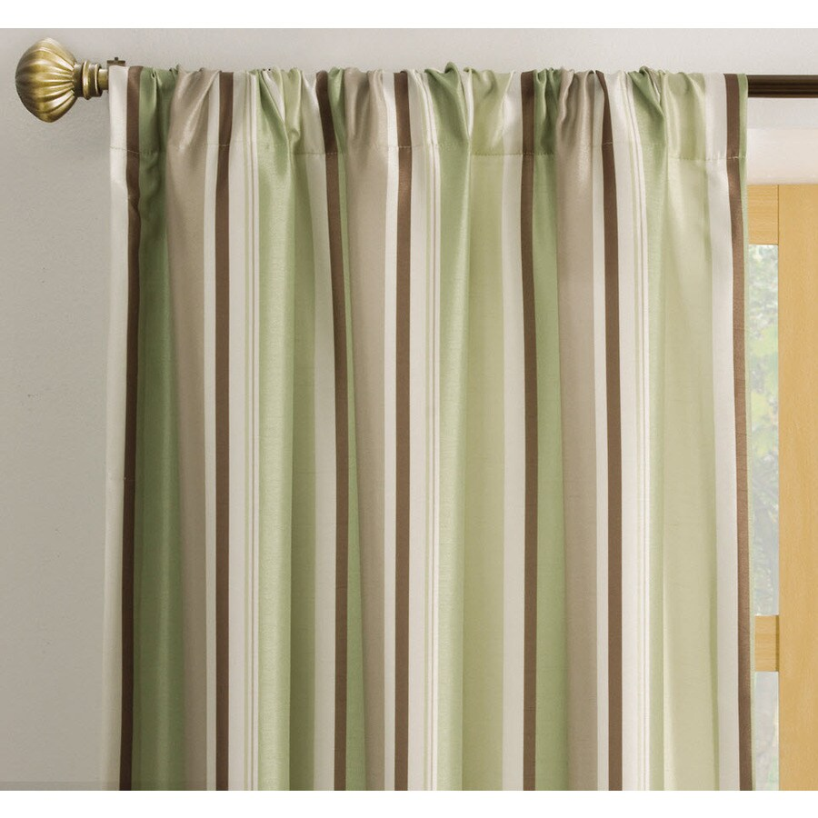 allen + roth Alison 95-in Green Polyester Rod Pocket Light Filtering Single Curtain Panel