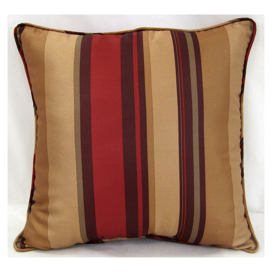 allen + roth 18-in W x 18-in L Red Square Accent Pillow