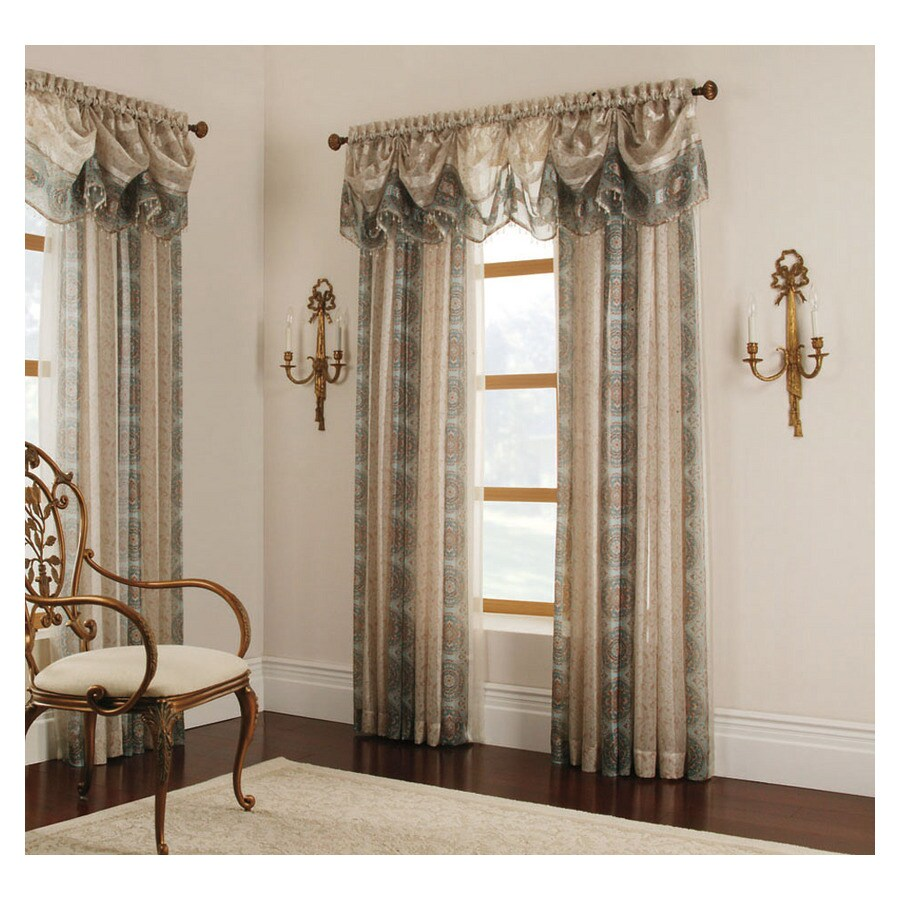 Allen + Roth Cheshire 84 In Mist Polyester Rod Pocket Light Filtering Sheer  Single Curtain  Allen Roth Curtains