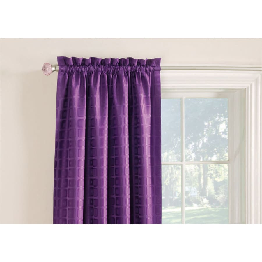 Style Selections Gabby 84-in Purple Polyester Rod Pocket Room Darkening Single Curtain Panel