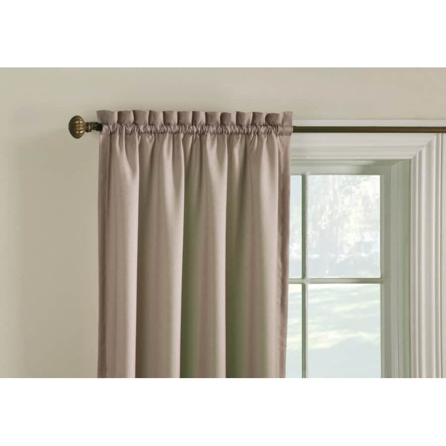 Style Selections Walker 84-in Cafe Polyester Rod Pocket Room Darkening Thermal Lined Single Curtain Panel