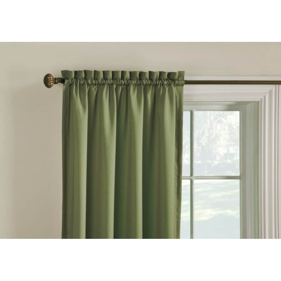 Style Selections Walker 63-in Artichoke Polyester Rod Pocket Room Darkening Thermal Lined Single Curtain Panel
