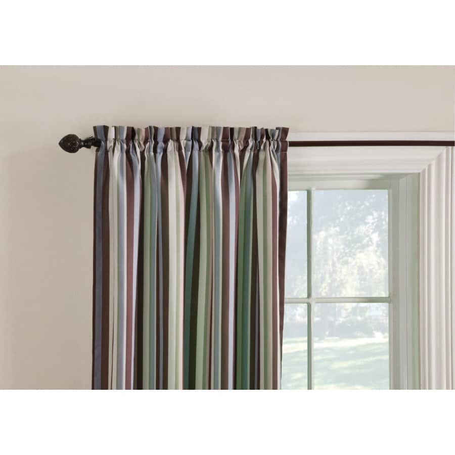 Style Selections Colin 84-in Brown/Multi Polyester Rod Pocket Room Darkening Single Curtain Panel