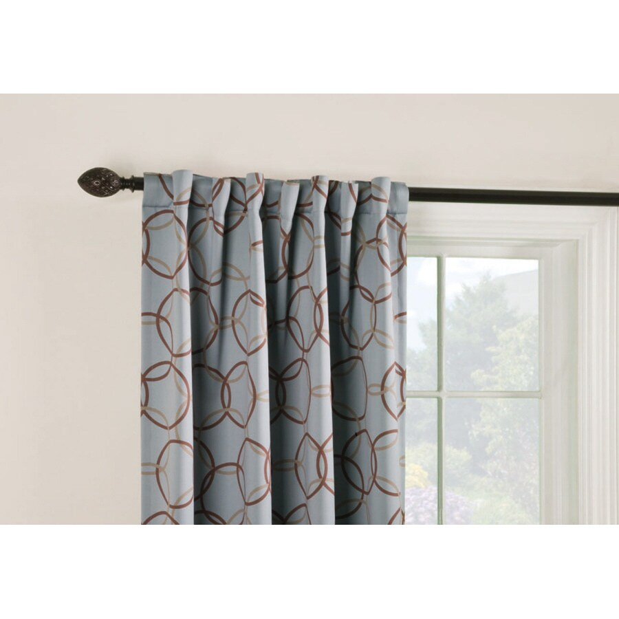 Style Selections Barrett 84 In Slate Polyester Back Tab Room Darkening Thermal Lined Single Curtain