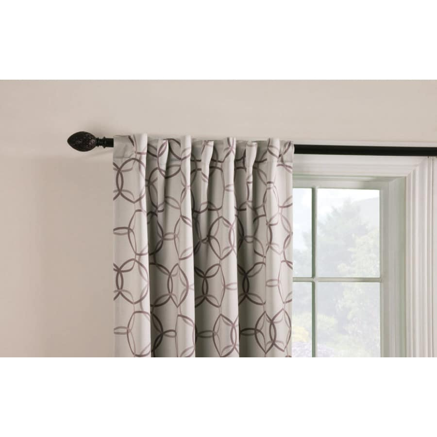 Style Selections Barrett 84-in Linen Polyester Back Tab Room Darkening Single Curtain Panel