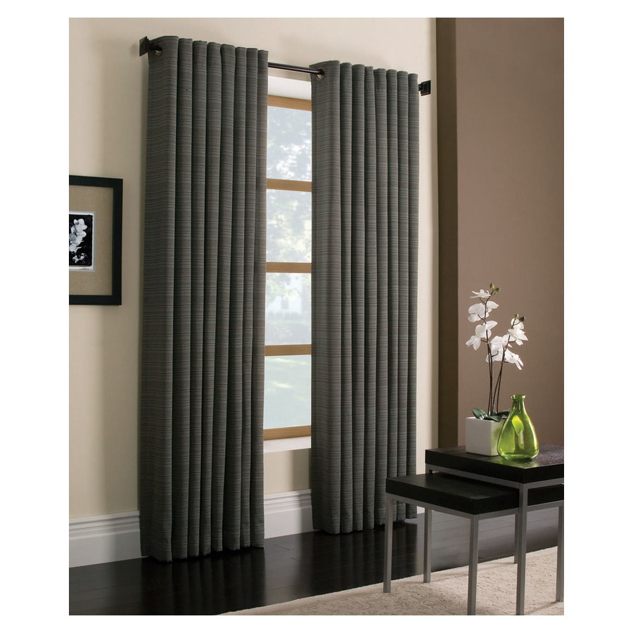 Style Selections Marsden 63-in Blue Polyester Grommet Light Filtering Single Curtain Panel