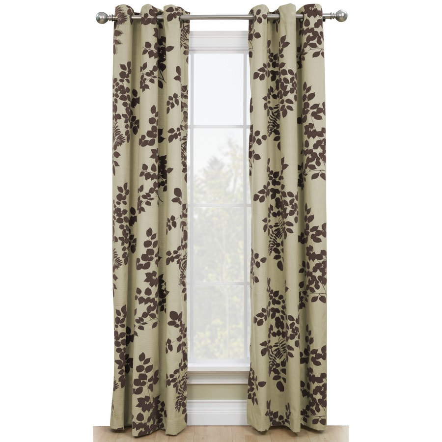 Style Selections Adelyn 84-in Chocolate Polyester Grommet Single Curtain Panel