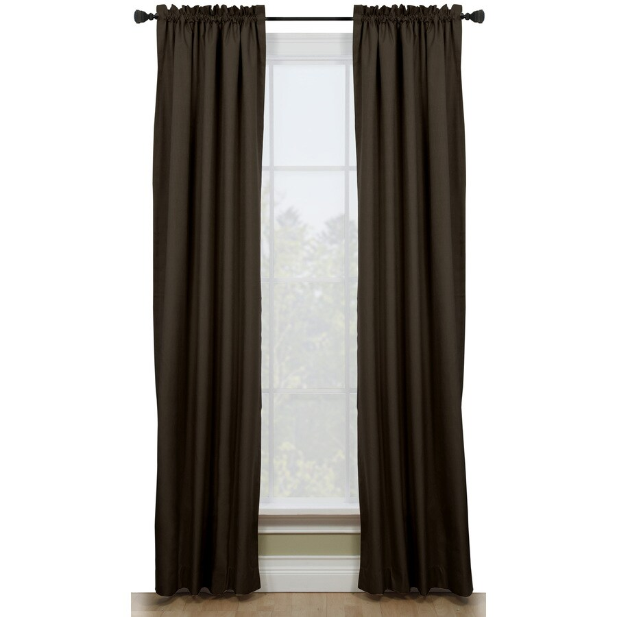 Shop Style Selections Walker 84 In Chocolate Polyester Rod Pocket Room Darkening Thermal Lined