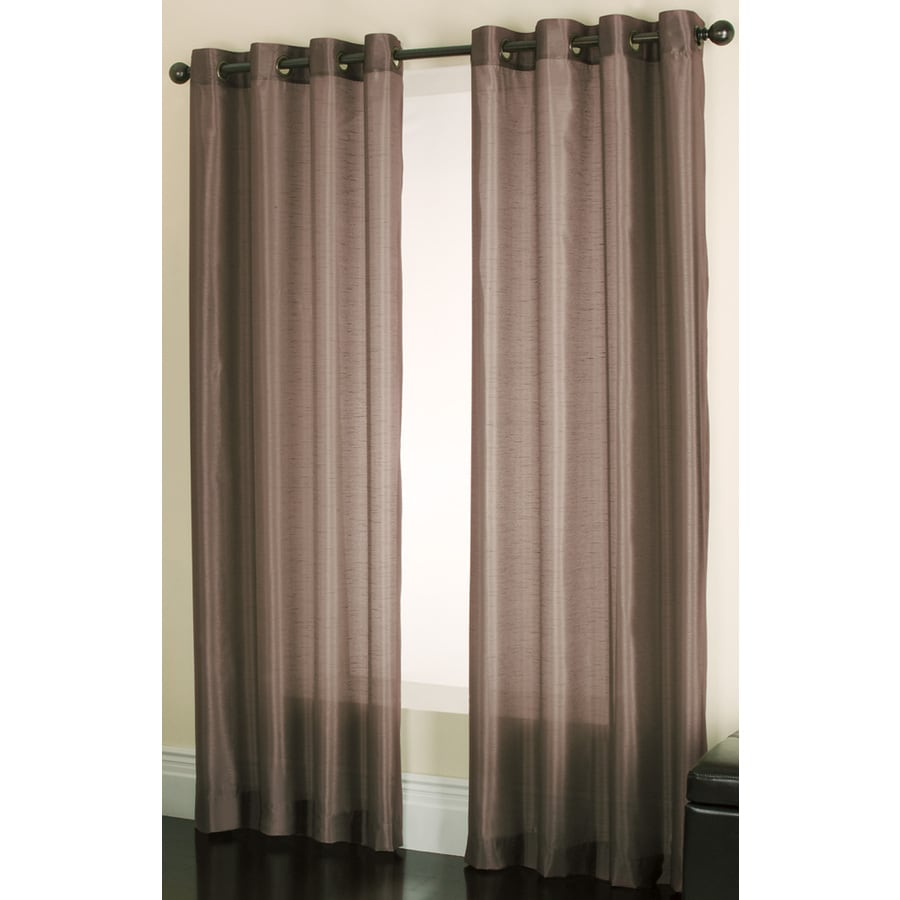 allen + roth Edistone 63-in Chocolate Polyester Grommet Light Filtering Sheer