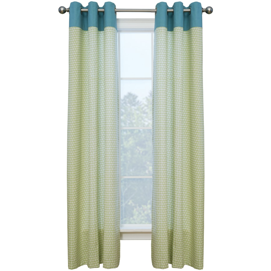 Style Selections Dorsey 84-in Palm/Wave Polyester Grommet Single Curtain Panel
