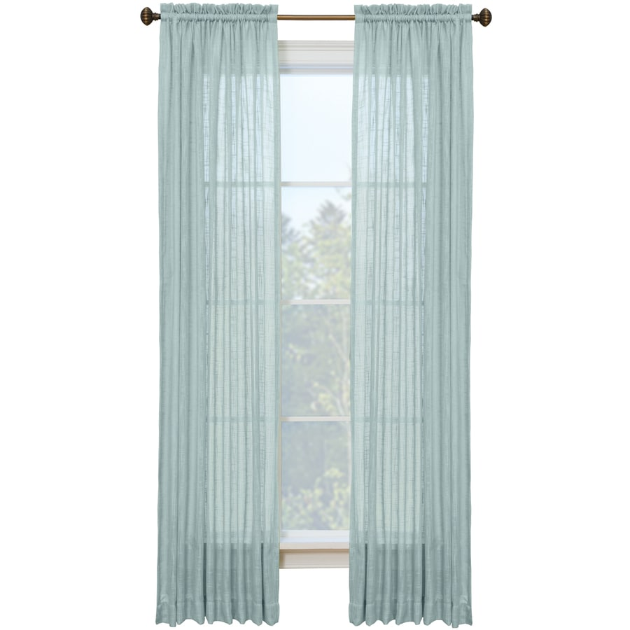 Style Selections Kenna 84-in Mineral Polyester Rod Pocket Semi-sheer Single Curtain Panel