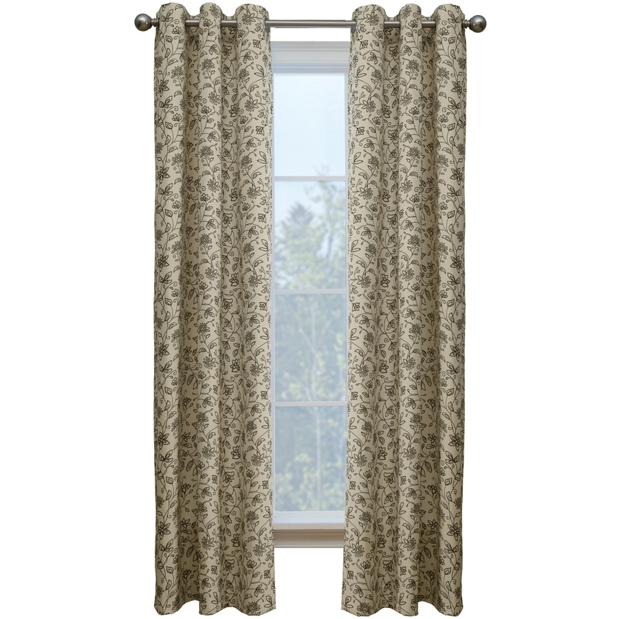 Style Selections Juliette 84-in Onyx Cotton Grommet Single Curtain Panel