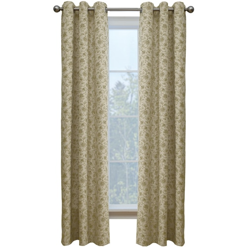Style Selections Juliette 84-in Sand Cotton Single Curtain