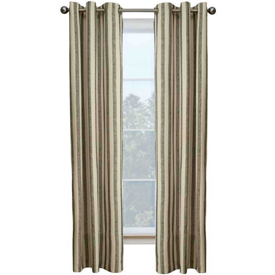 Style Selections Capulet 84-in Onyx Cotton Grommet Single Curtain Panel