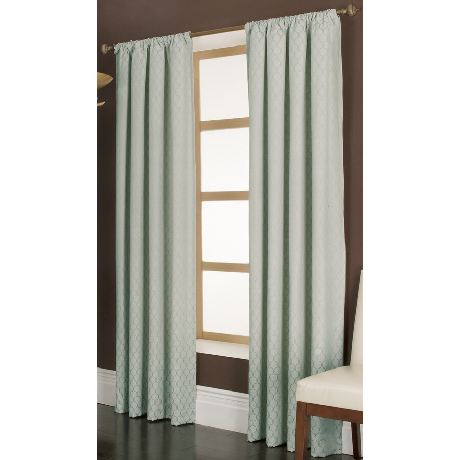 allen + roth Parksley 95-in Dusk Cotton Rod Pocket Light Filtering Single Curtain Panel